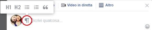 istruzioni per scrivere post in grassetto e corsivo sui gruppi Facebook