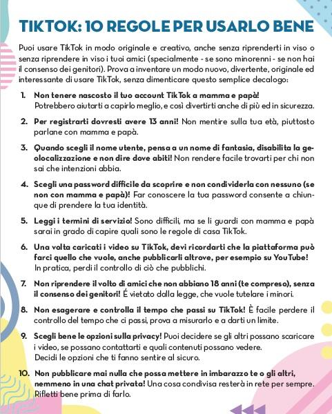 Regole per un uso consapevole di Tik Tok per ragazzi