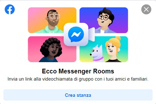 Facebook Messenger Rooms: come si crea una stanza?