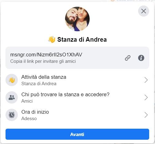 Creazione di una Facebook Room